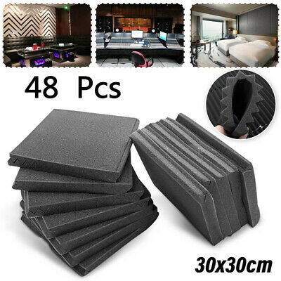 "48 Pack 12"" X 12"" Acoustic Studio Room KTV Soundproof Foam Sponge Soundproof"