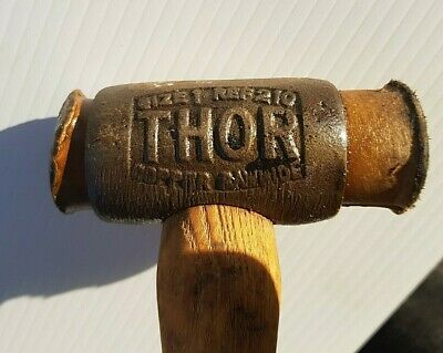 Old Thor Hammer Copper & Rawhide Size 1 Ref 210 Made In England