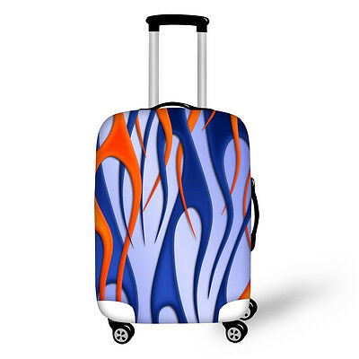 26/28/30 Inch Creative Color Printed Luggage Cover Spandex Protective Suitcase