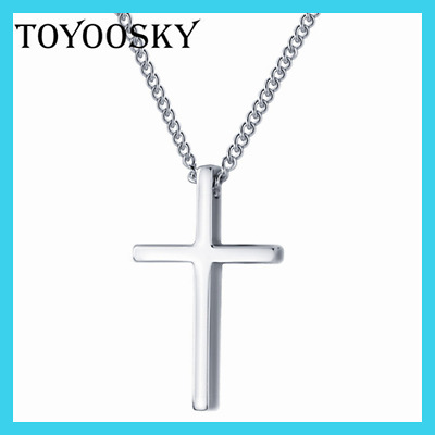 Polished Religion Cross Necklaces & Pendants Vintage Real 925 Sterling Silver