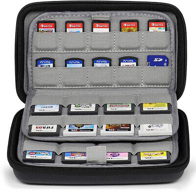 72 in 1 Game Cartridge Holder Organiser Carrying Case Nintendo Switch 3DS 2DS