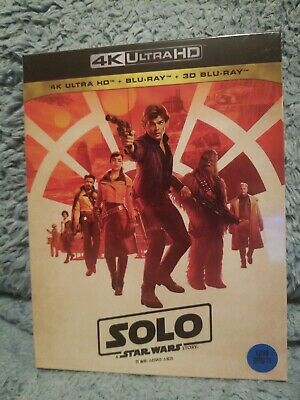 Solo A Star Wars Story 4K UHD + 2D/3D Blu Ray Steelbook Limited Korean Edition