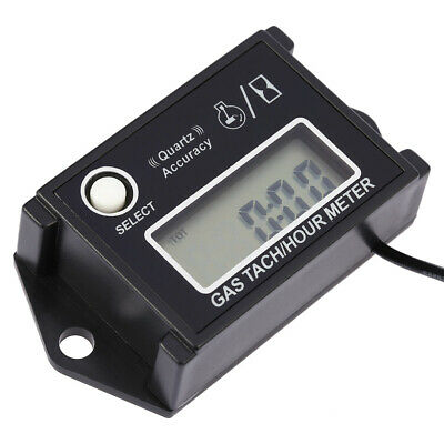 LCD Tachometer Tach/Hour Meter RPM Tester for 2/4 Stroke Engine Motorcycles I3U7