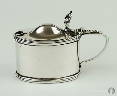 Georgian Style ANTIQUE STERLING SILVER MUSTARD POT Chester 1919 Stokes & Ireland