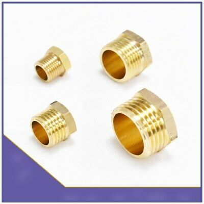 Brass BSP Male Blanking Plug External Hex Head Flanged Countersunk Stop End Cap