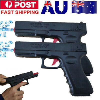 Manual Spring G17 Water Gel Ball Blaster Pistol Gun Toy Dart Hopper-fed AU Stock