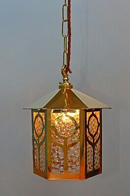 Antique Arts And Crafts Hall Lantern / Light From Early 1900's