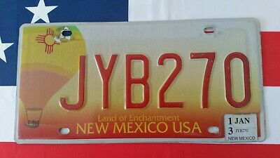 Plaque d'immatriculation New Mexico JYB270 US USA license plate