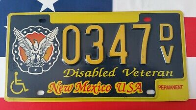 Plaque d'immatriculation New Mexico 0347 DV US USA license plate