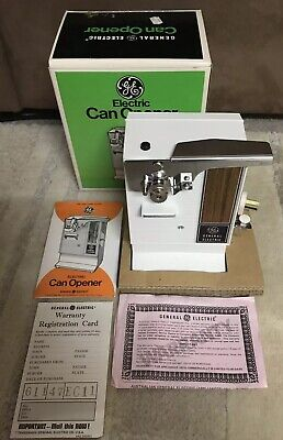 1970's GE Electric Can Opener Brand New Tested Original Box