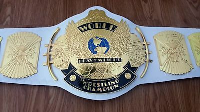 WWF WWE Gold Winged Eagle World Heavyweight Wrestling Champions Title Belt Adult
