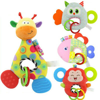 Newborn Baby Infant Animal Soft Rattles Teether Hanging Bell Plush Bebe Cute Toy