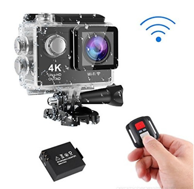 ACTION CAM WiFi 4K ULTRA HD Videocamera Subacquea 16MP con Telecomando 30fps