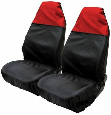 UKB4C Waterproof Black Airbag Compatible Front Pair of Seat Covers for Aygo 05-On