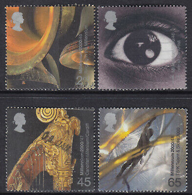 2000 GB Millennium Series Sound & Vision SG 2174-2177 Set Of 4 Used Stamps