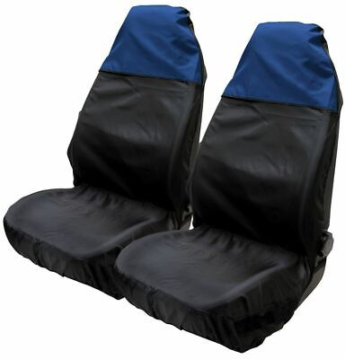 Blue & Black Water Resistant Front Seat Covers fits BMW X1 Crossover