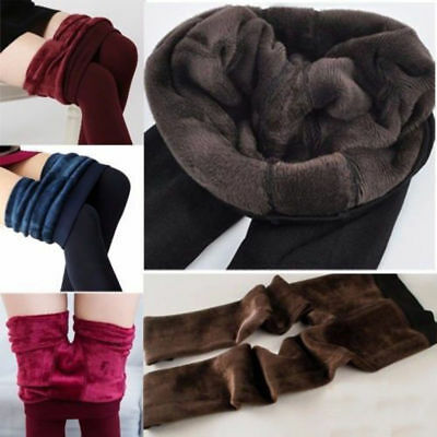 Women Winter Thermal Thick Fleece Skinny Slim Fit Leggings Stretch Pants Trouser