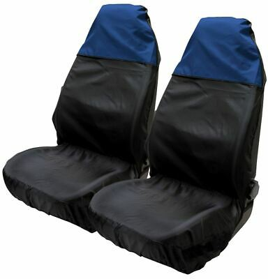Blue & Black Water Resistant Front Seat Covers fits BMW 3 Series Saloon