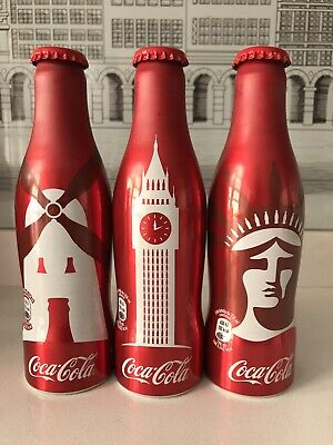 Cities Edition 2017 Spain. Aluminium Coca Cola Bottles