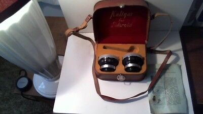 Vintage Kaligar Telephoto Wide Angle Auxilary Lens Set For Polaroid 100 In Case