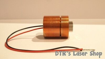 25mm 7W NUBM44-V2 450nm Laser Diode In 25mm Copper Module W/Leads & DTR-G-8 Lens