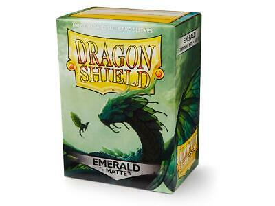 Matte Dragon Shield Standard Size Card Protector Sleeves MTG 100ct Emerald Box