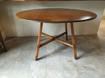 ErcolElm & Beech Old Colonial Drop Leaf Kitchen Table / Dining TableModel 377