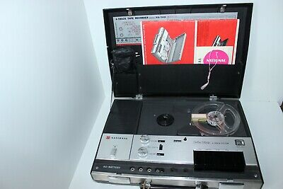 Vintage National Solid State 4 Track Tape Recorder-Model RQ-194S