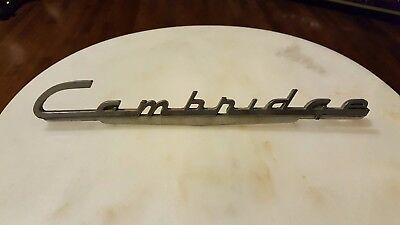 Cambridge Fender Car Truck Auto Script Metal Emblem Car Door Trunk Ornament