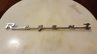 Vintage Dodge Regent CAR TRUCK AUTO SCRIPT METAL EMBLEM DOOR TRUNK Ornament
