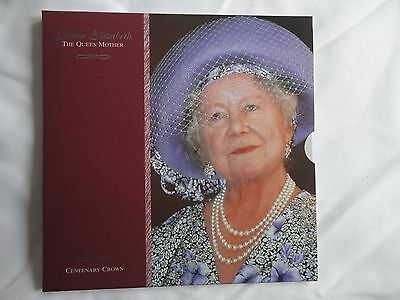 2000 Royal Mint -  Queen Mother Centenary £5 Pack,Brilliant Un Circulated