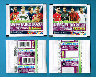 PANINI Road to EURO 2020   4 different sealed packets   2 covers barcode + blanc