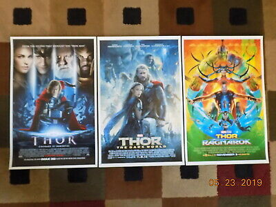 "THOR -  1,2 & 3 (11"" x 17"") Movie Collector's Poster Prints (Set of 3)"