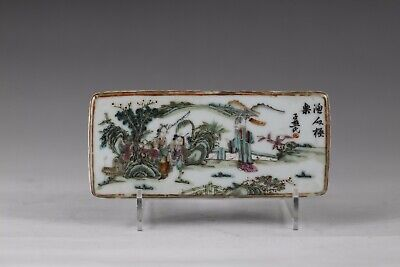 19th century, A beautiful'famille-rose'chinese porcelain panel