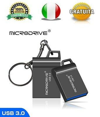 Pendrive Usb 3.0 Super Mini Metallo 16gb 32gb 64gb 128gb Chiavetta MicroDrive