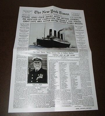 The New York Times Front Page Jigsaw Puzzle - Titanic - April 16,1912  500 Piece