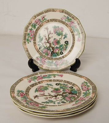 4x Myott Son and Co Indian Tree Pattern Side Plates