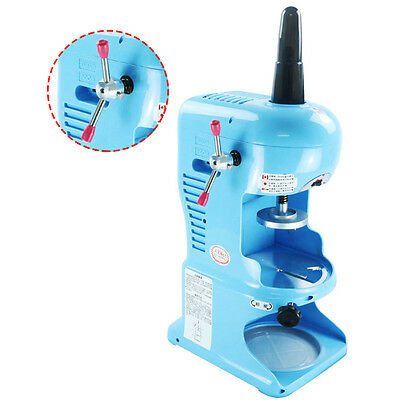 Electric Ice Shaver Machine Snow Cone Maker Automatic Crusher 220V