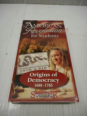 The American Revolution For Students Origins Of Democracy 1688-1765 VHS 2004