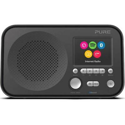 Pure elan ir5 internet radio portatile aux bluetooth wlan spotify nero