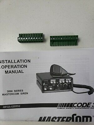 Code3 Mastercom 2 plug set 11 and 10 pins. With owner's/installation Manual