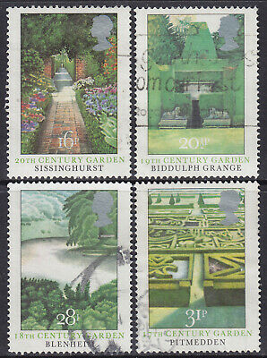 1983 GB British Gardens SG 1223-1226 Set Of 4 Used Commemorative Stamps