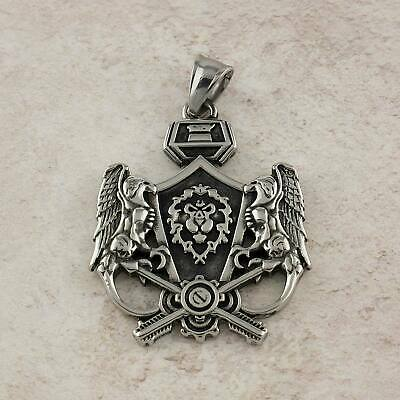 World of Warcraft Alliance Crest Stainless Steel Pendant Only