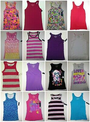 Faded Glory Girls Tank Top Solids, Print, Graphics, Palms, Beach, Stripe 7-8