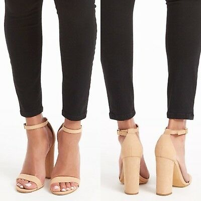 4520ab9cf8abd NEW SCHUTZ NUDE Ankle Strap Stacked Heels - Photoshoot Sample - Orig ...