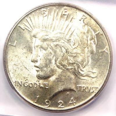 1924-S Peace Silver Dollar $1 - ICG MS62 - Rare Certified Coin - $351 Value!
