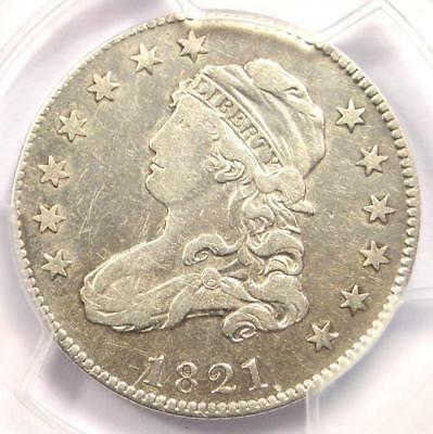 1821 Capped Bust Quarter 25C - PCGS VF Details - Rare Date Coin - Near XF!