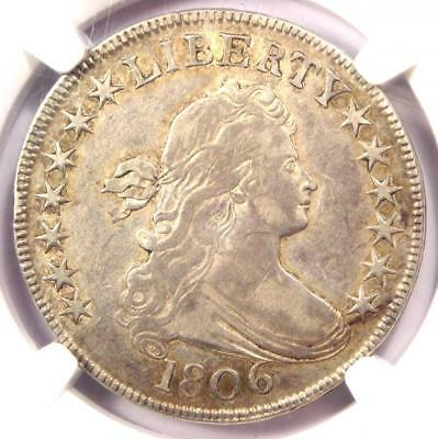 1806 Draped Bust Half Dollar 50C Coin - NGC XF40 (EF40) - $2,150 Value!