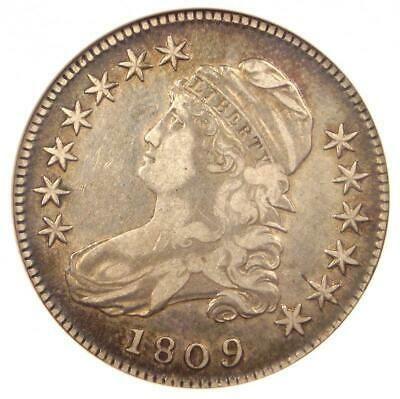 1809 Capped Bust Half Dollar 50C O-106 - ANACS VF30 - Rare Certified Coin!