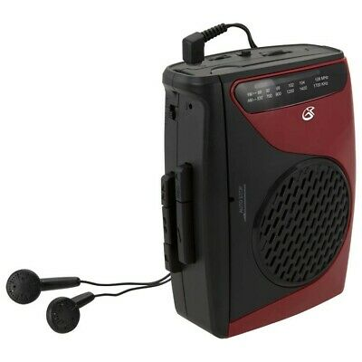 GPX Portable Cassette Tape Player with AM/FM Radio & Built-in Speaker